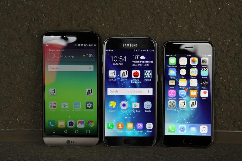 LG G5 Vergleich Galaxy S7 iPhone 6s