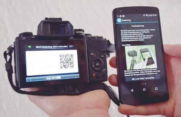 Olympus Bridgekamera mit der Image Share App mit dem Smartphone verbinden und steuern