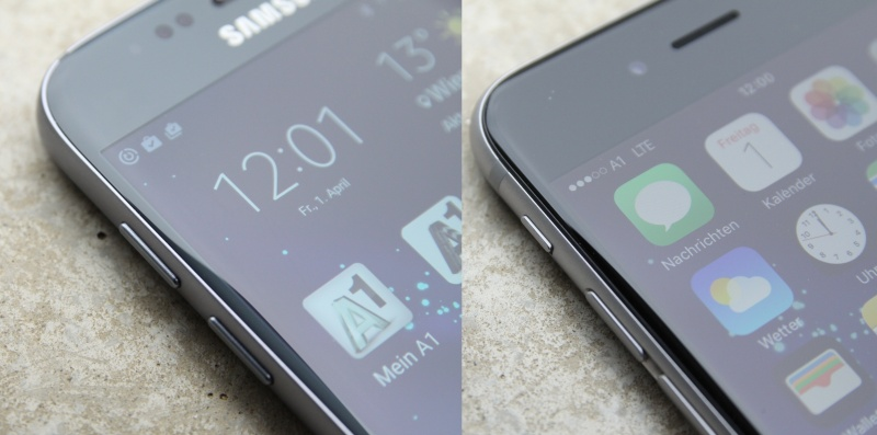Galaxy S7 vs. iPhone 6s Verarbeitung