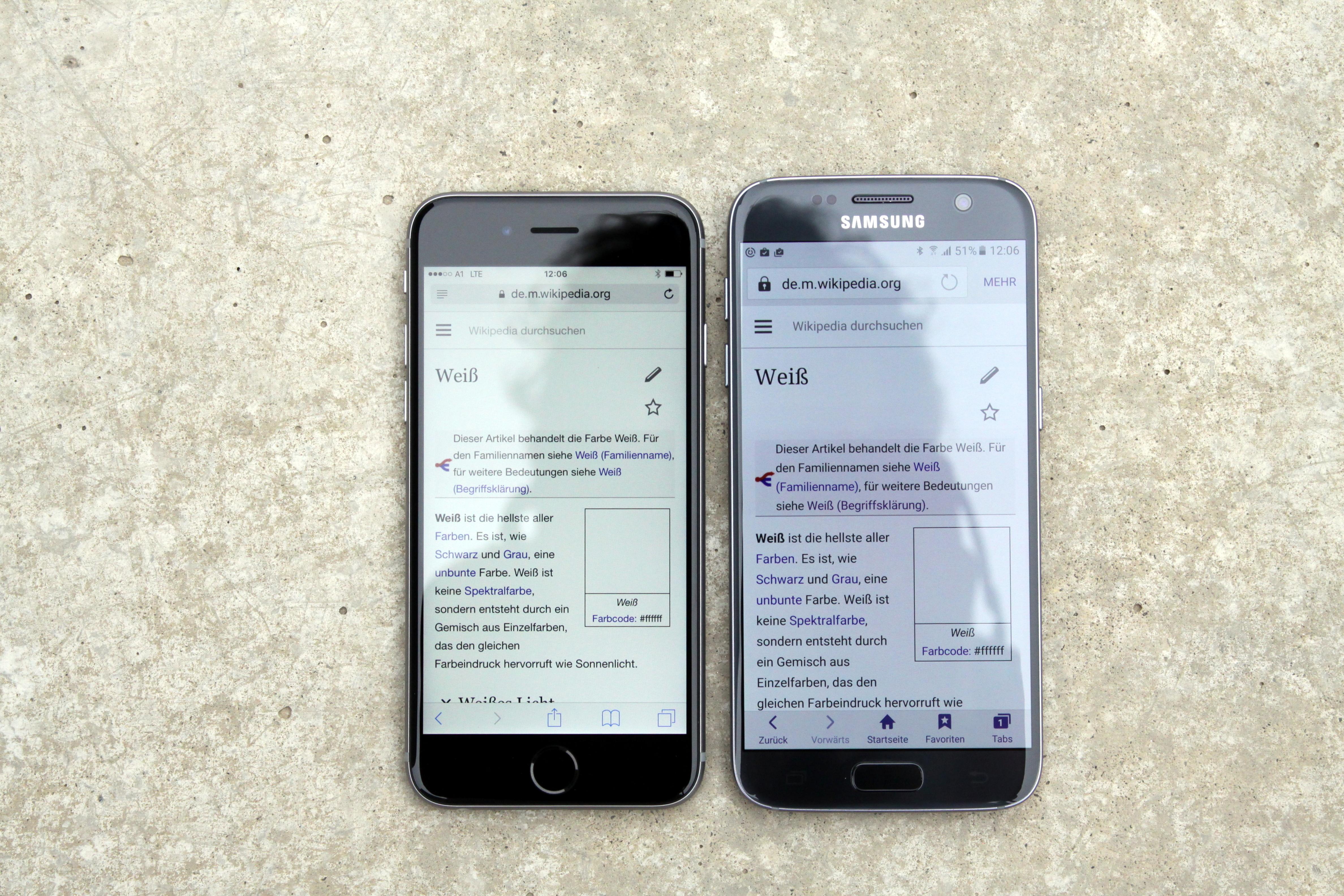 mache Text auf iPhone größer