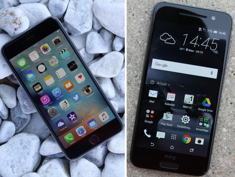 Vergleich HTC One A9 vs. iPhone 6s