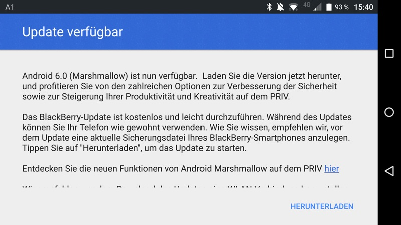 Android 6 0 Marshmallow fürs BlackBerry PRIV | A1Blog