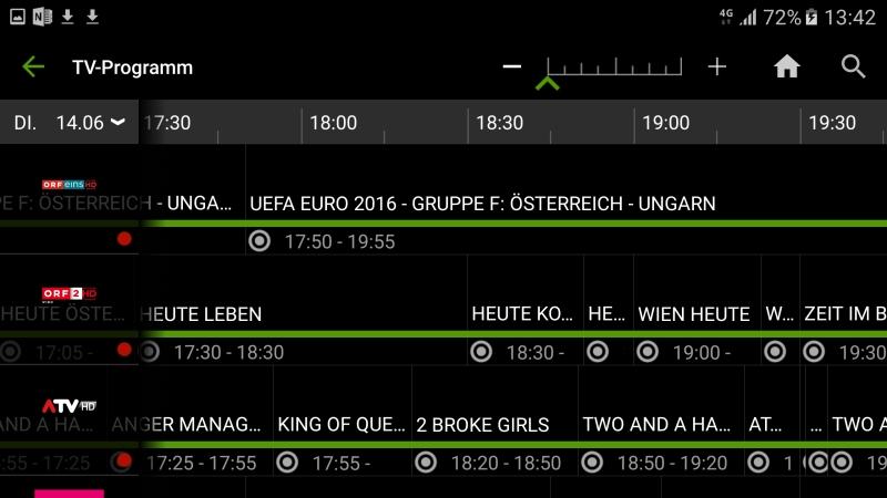 TV Programm Übersicht