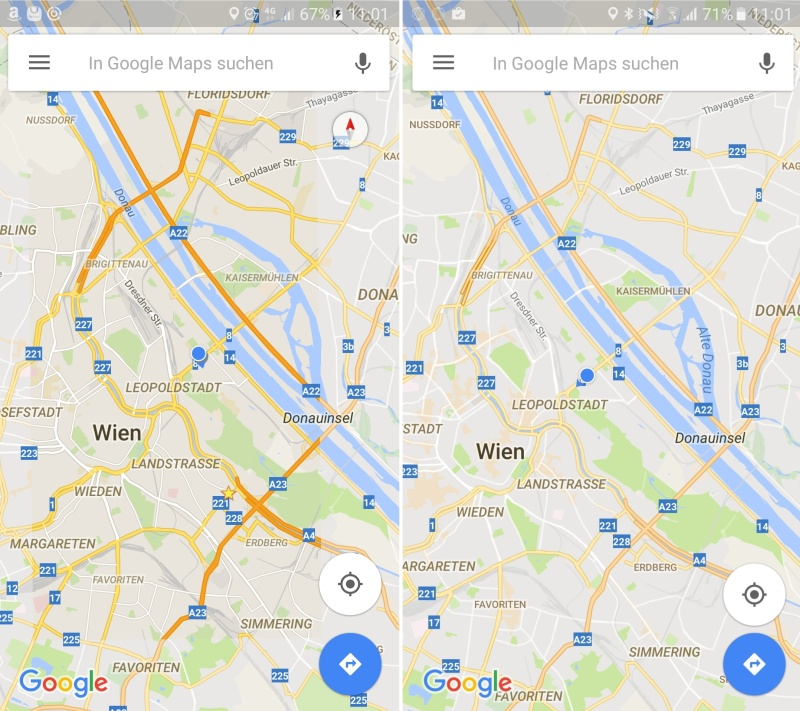 Neues Design Google Maps