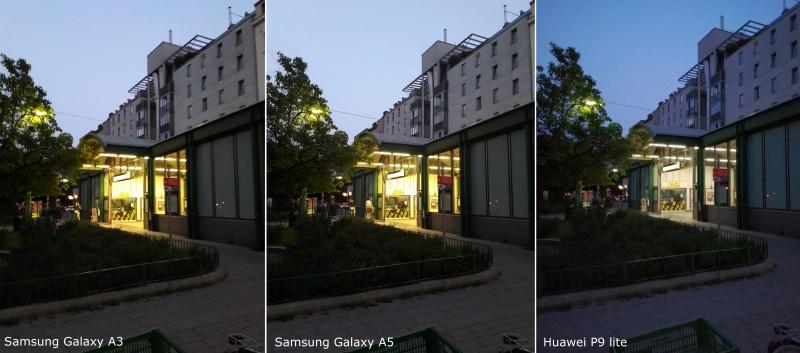 Vergleich Performance Kameras Nacht P9 lite, a3, a5
