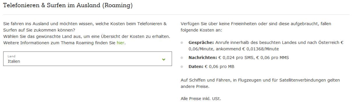 Roaming Kosten online abfragen_1