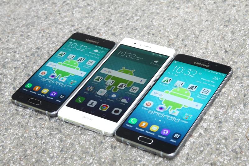 Vergleich Design Galaxy A3 A5 Huawei P9 lite