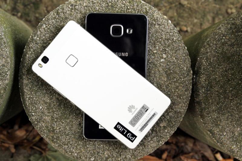 Reuckseite Vergleich P9lite Galaxy A5