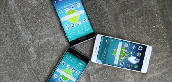 Vergleich im Test Samsung A3 A5 P9 lite