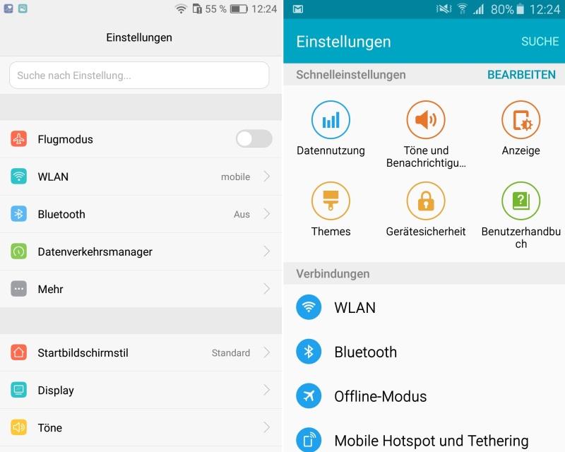 Vergleich Android A5 P9 lite