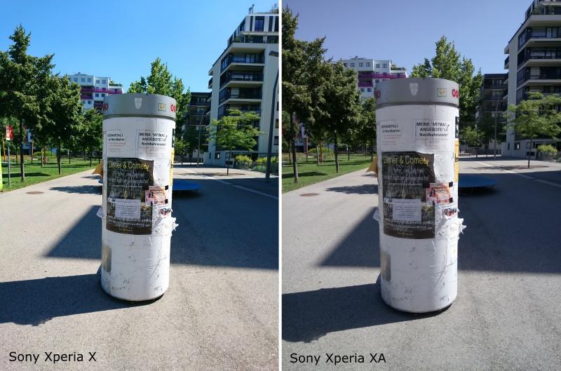 Sony Xperia X XA Vergleich Fotos