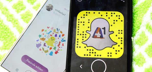 A1 auf Snapchat