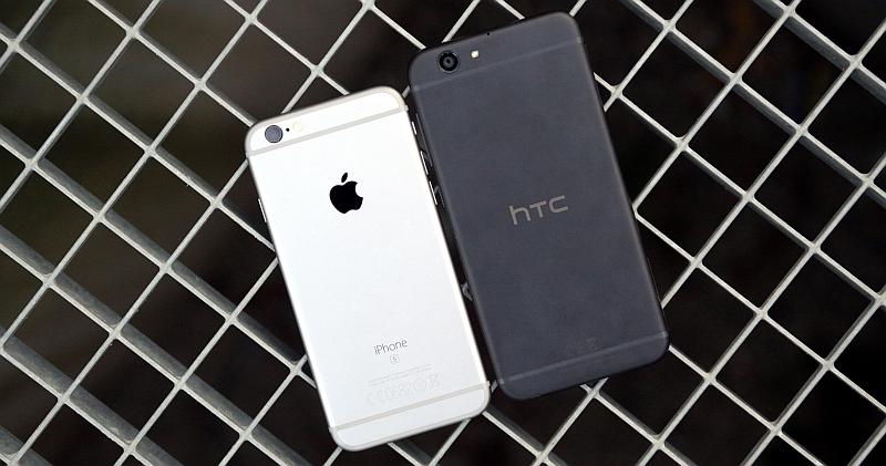HTC One A9s Vergleich iPhone
