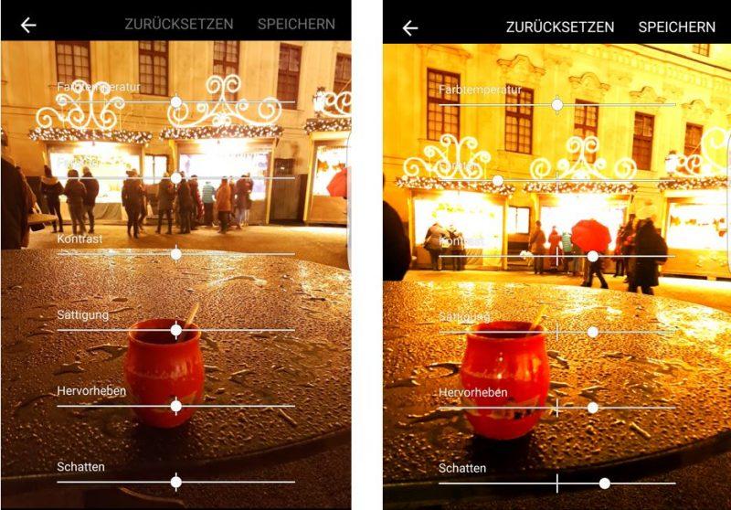 samsung galaxy s7 edge kameraeinstellung für bessere bilder bei nacht