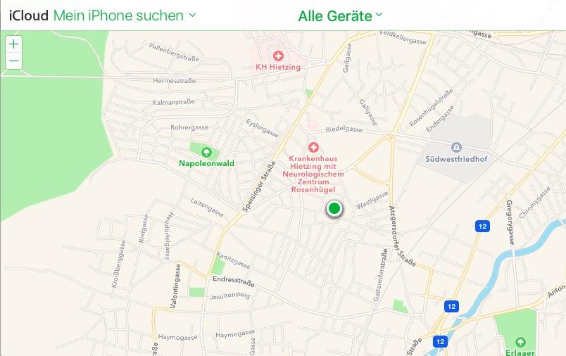 Gerätesuche am Beispiel iPhone