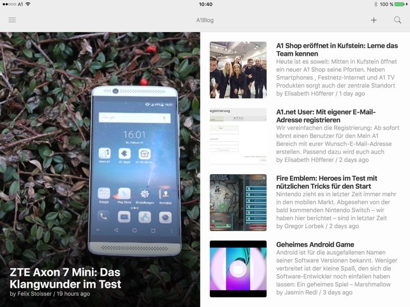 Aus der Praxis: Neuigkeiten über RSS bekommen - am Beispiel A1 Blog