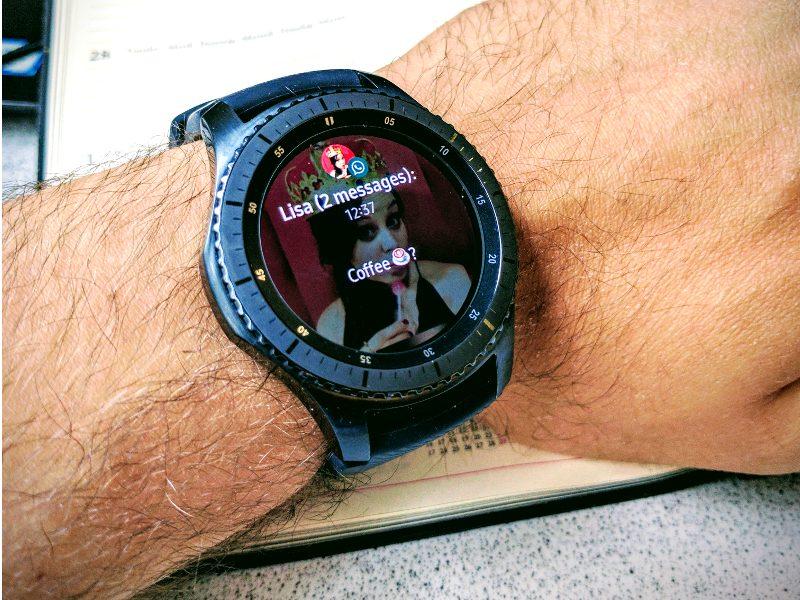 Samsung Gear S3 Frontier Nachricht