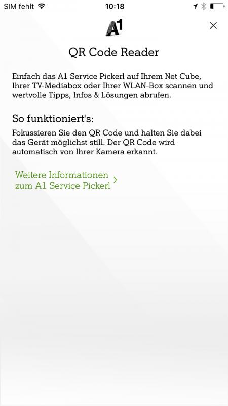 3D Touch Mein A1 App QR Code Reader