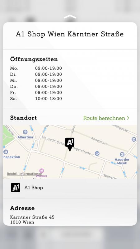 3D Touch Mein A1 App Shop Liste