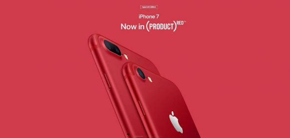Das Apple iPhone 7 in Rot