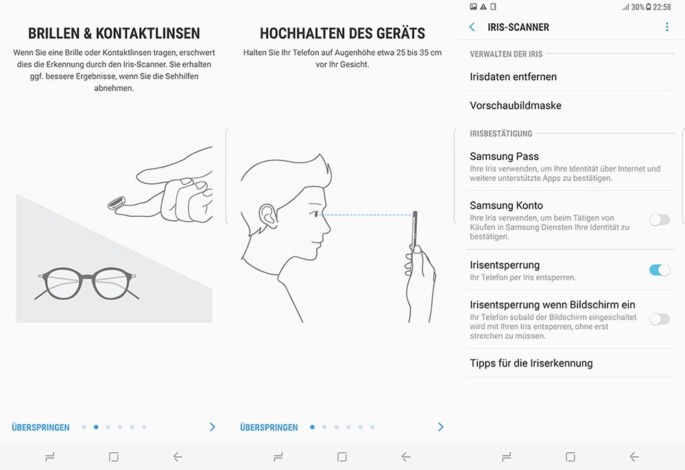 Galaxy S8 Iris Scan