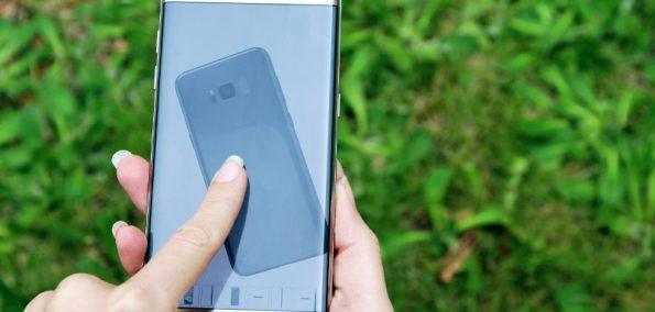 3D Modell eines Smartphones im A1 Online Shop mit Wischgesten steuern