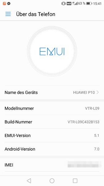 Firmware Update Huawei P10
