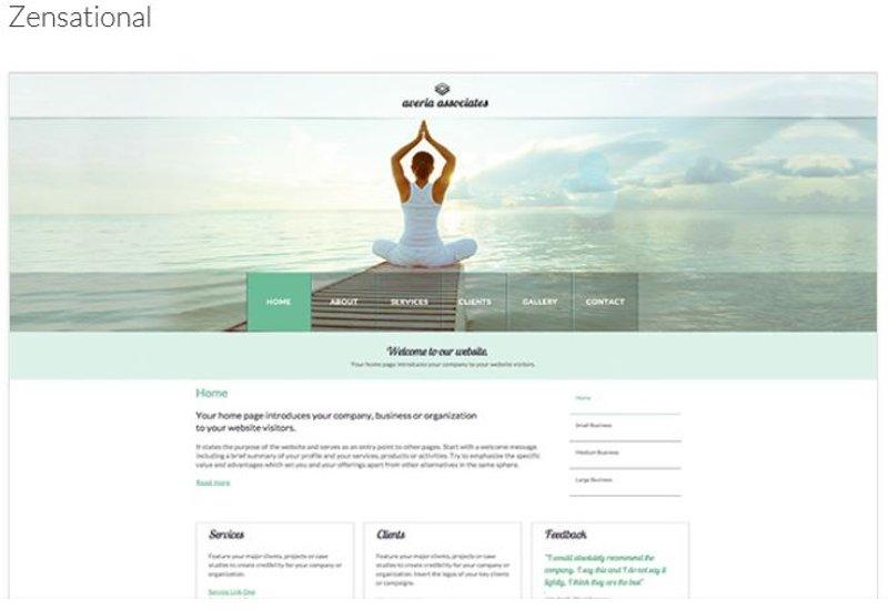 Template Zensational A1 Web Presence Service