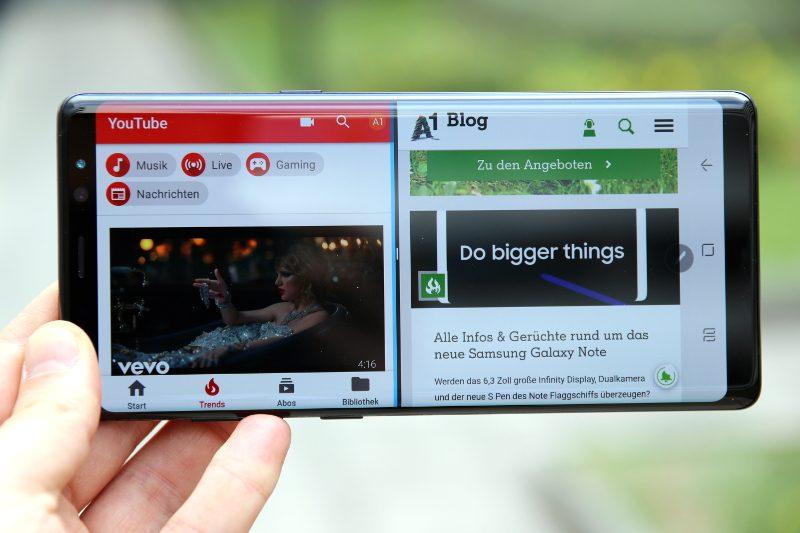 Samsung Galaxy Note 8 Test: App Paar