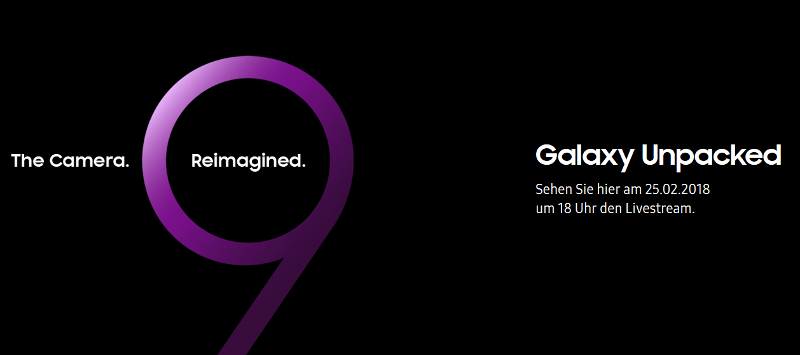 Samsung Galaxy S9: Präsentation am 25. Februar