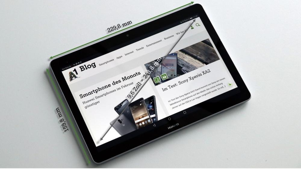 Im Test Huawei Mediapad T3 10 A1blog