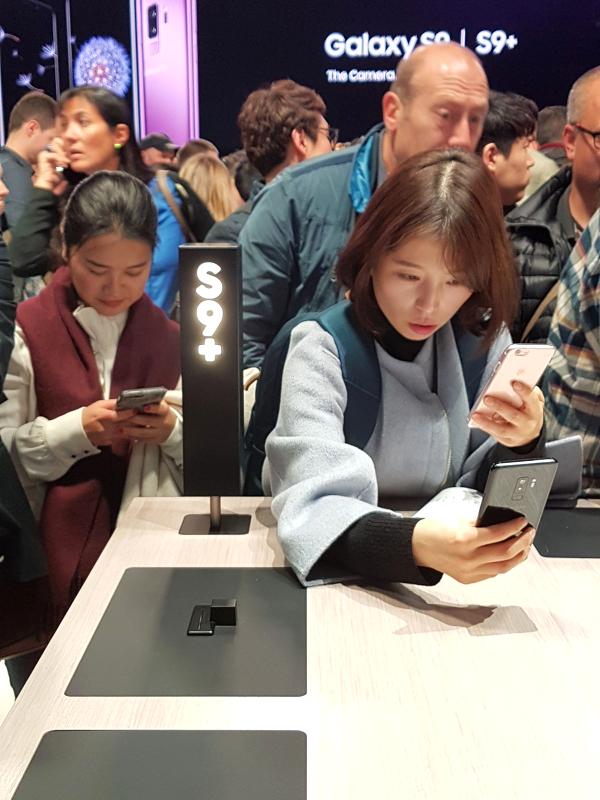 Samsung Galaxy S9+ am MWC Barcelona