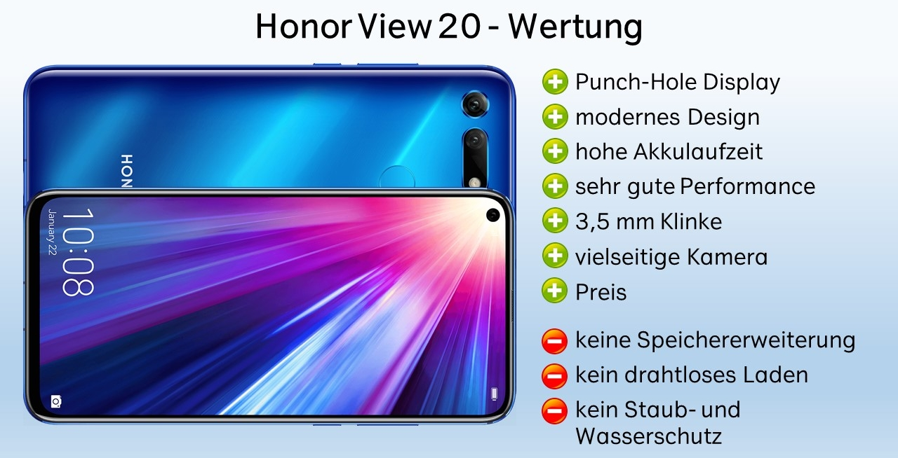 Honor View 20 Test Fazit, Wertung,