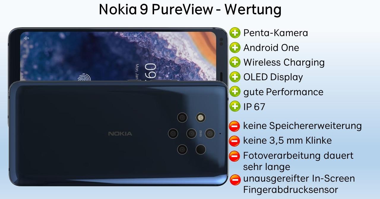 Nokia 9 Pureview Test Fazit Wertung Verdict