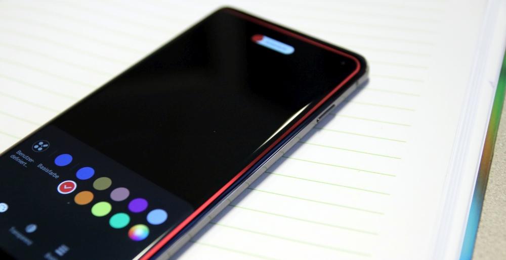 Samsung Galaxy S10 Test Seitenlicht
