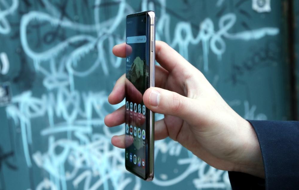 Samsung Galaxy S10 Test Seitenanschicht