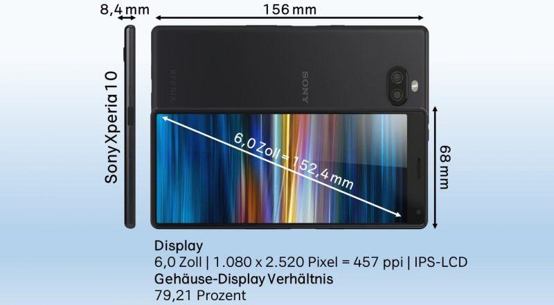 Sony Xperia 10 Design Eckdaten