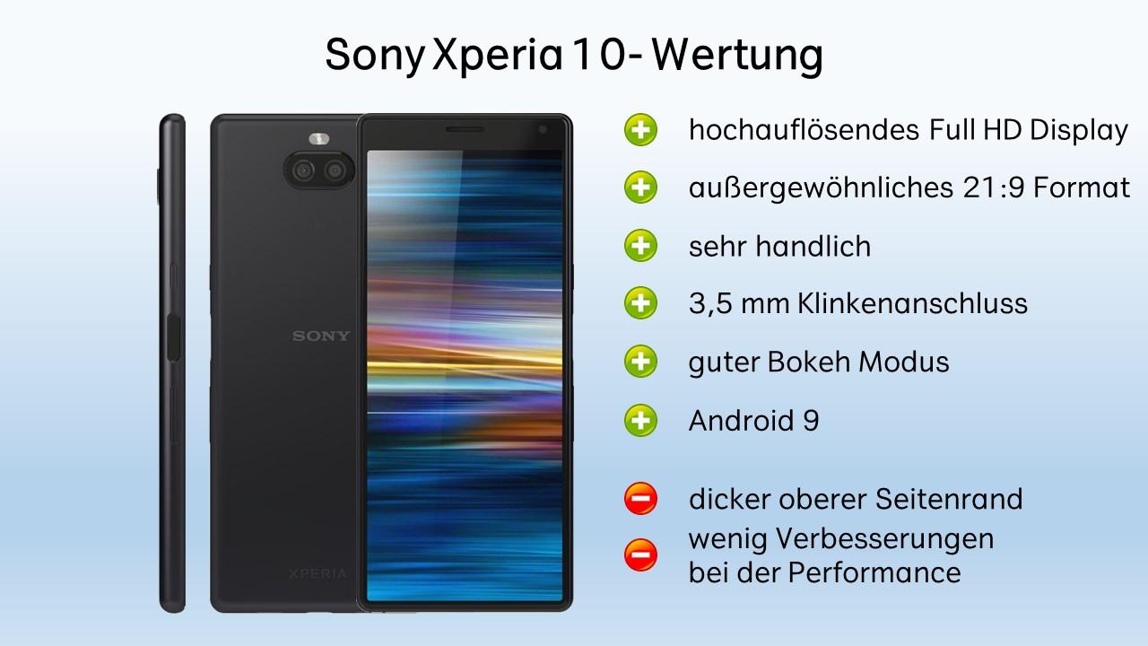 Sony Xperia 10 Test Fazit