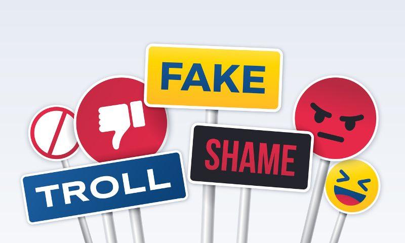 Social media, gut, schlecht, smiley, emoji, like, dislike