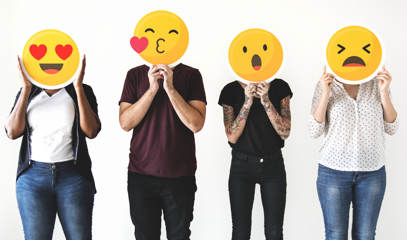 Social media, gut, schlecht, smiley, emoji, like, dislike