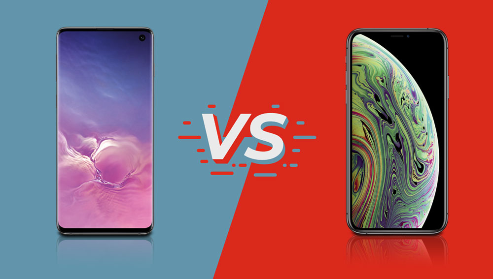 Galaxy S10 vs. iPhone XS TEST Vergleich