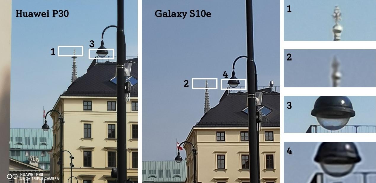 Vergleich Test Kamera Tag Zoom Huawei P30 Galaxy S10e
