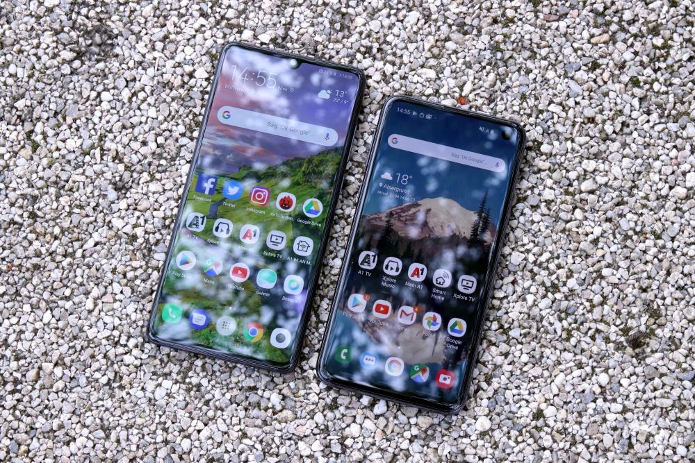 Huawei P30 vs. Samsung Galaxy S10e Vergleich Design