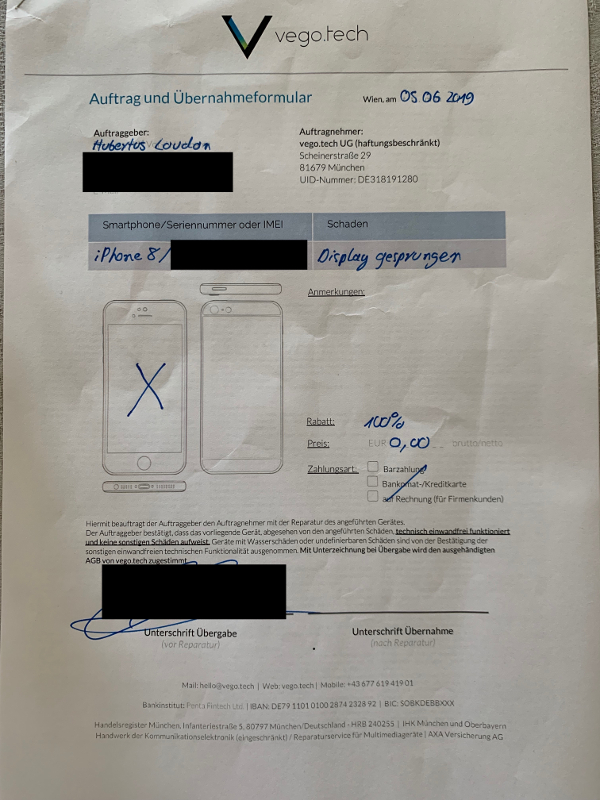 iPhone 8 Display Reparatur: vego.tech