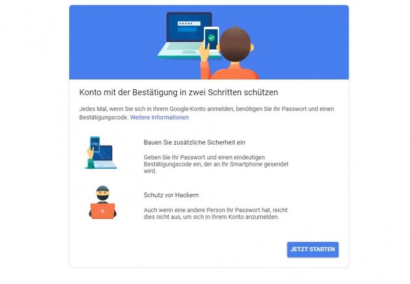 Google 2 Faktor Sicherheit