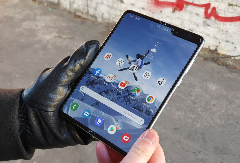Samsung Galaxy Fold 5G Display Klappe auf