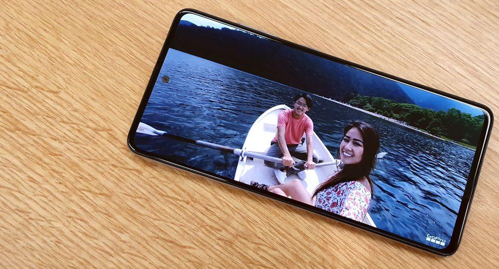 Samsung Galaxy A51 Test Display