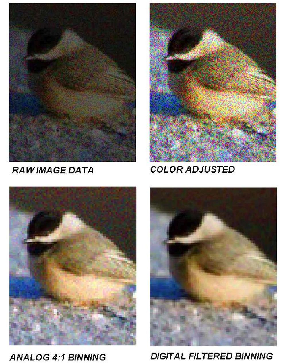 Pixel Bionning Eergebnis