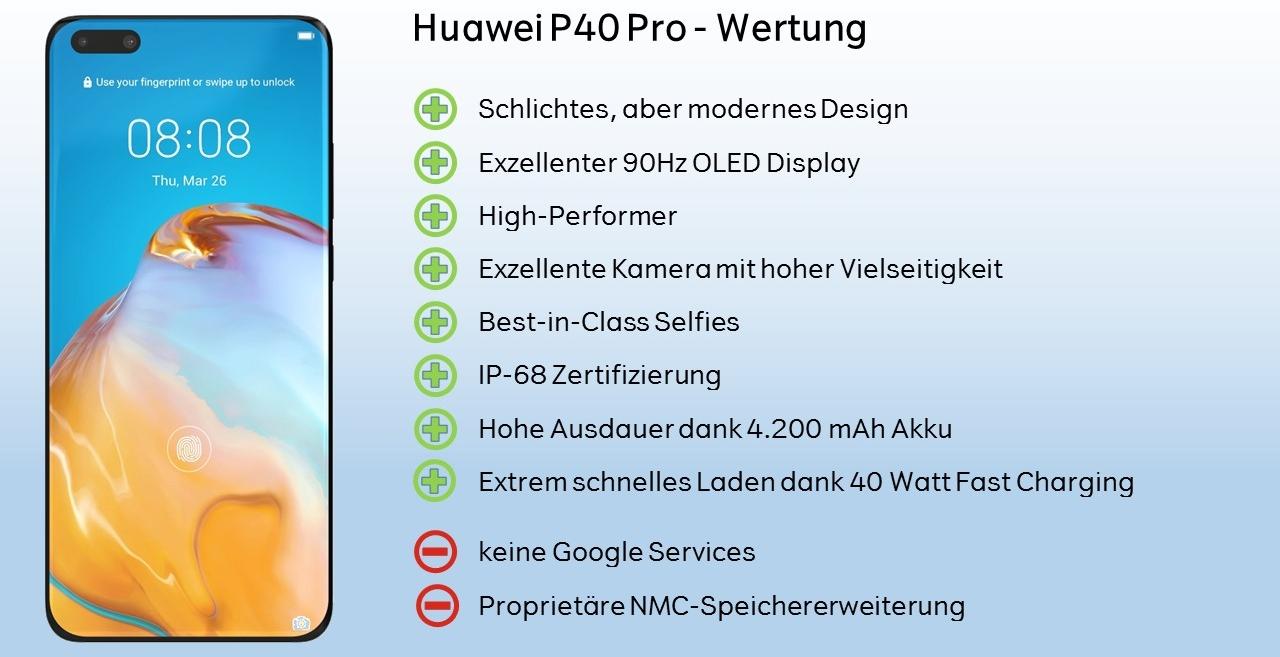 Huawei P40 Pro Wertung