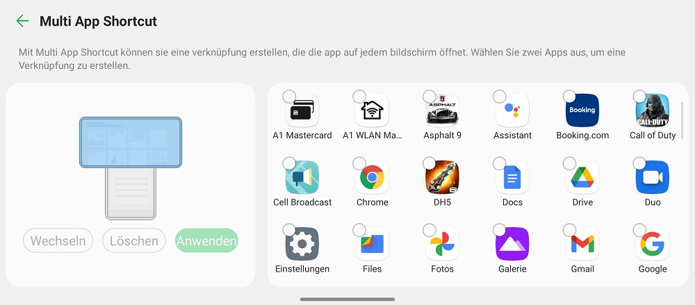 App Verknüpfungen